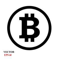 Bitcoin sign icon for internet money