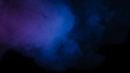 Abstract blue purple smoke