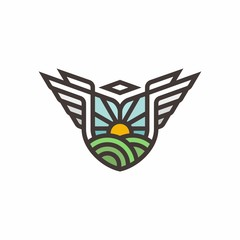 Wings vector logo icon illustration