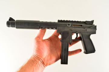 Close-up of toy gun