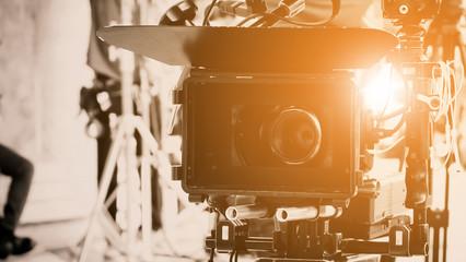 Cinema Camera on Film Set, Behind the scenes