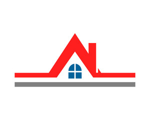 red roof house housing home residence residential real estate image vector icon