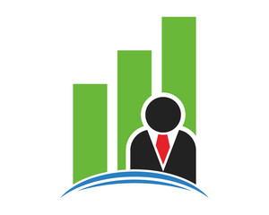 business chart diagram graph employee figure image vector icon