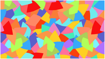 Background with colored shapes