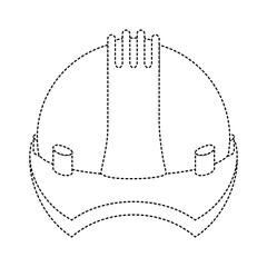 construction helmet isolated icon vector illustration design