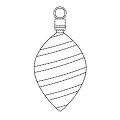 christmas ball hanging decorative vector illustration design