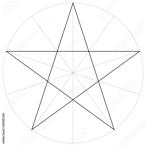 correct form shape template geometric shape of the pentagram five ...