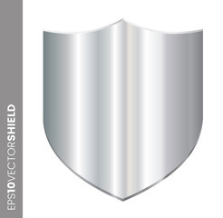 Metal Shield Icon - Blank