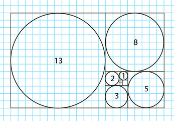 Golden ratio template vector, Divine Proportions, Golden Proportion. Universal meanings.