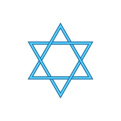 Vector Star of David - symbol of Judaism