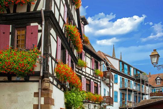Obernai.  Maison typique alsacienne à colombages. Alsace, Bas Rhin