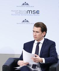 Austria's Chancellor Kurz attends the Munich Security Conference in Munich