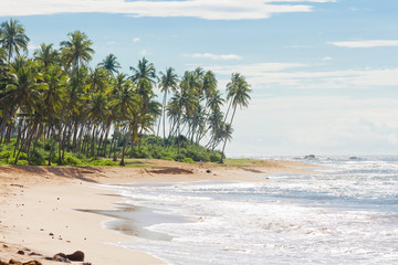 Sri Lanka, Rathgama - Beautiful natural beach landscape of Rajgama aka Rathgama
