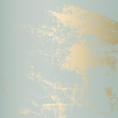 Abstract Grunge Pattina effect Pastel Gold RetroTexture. Trendy Chic Background made in Vector for your design