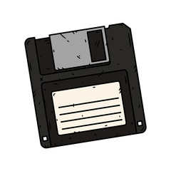 Floppy disk vector on a white background. Vector illustration.