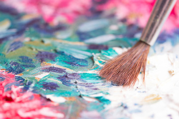 Artists oil paints multicolored
