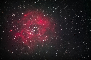 The Rosette Nebula as seen from Mannheim in Germany.
