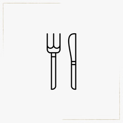 cutlery line icon