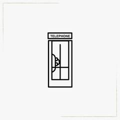telephone box line icon