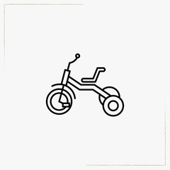 bicycle toy line icon