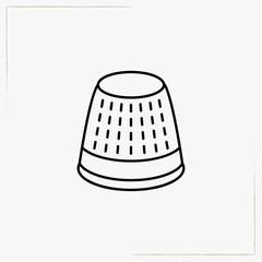 thimble line icon