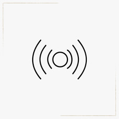 wireless connection line icon