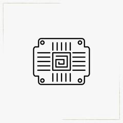 computer board line icon