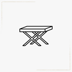 picnic table line icon