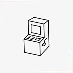 kids gaming machine line icon