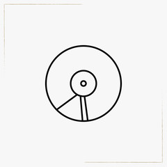 music plate line icon