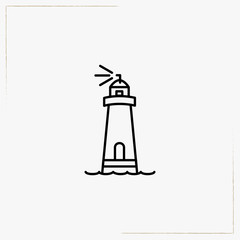 lighthouse line icon