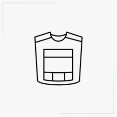 flak jacket line icon