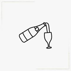 champagne line icon