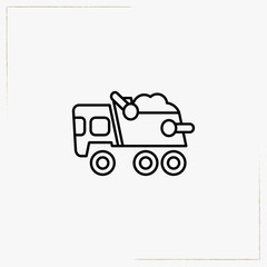 truck toy line icon