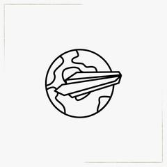 sending mail line icon