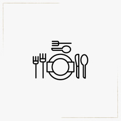table setting line icon