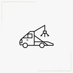 wrecker line icon