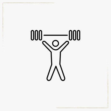weightlifter line icon