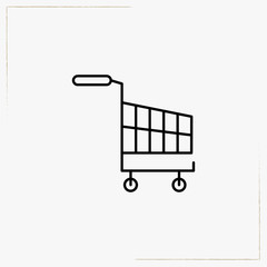 internet trolley line icon