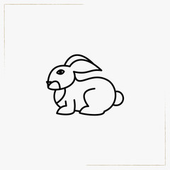 rabbit line icon