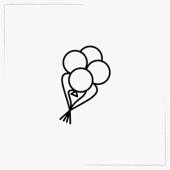 balloons line icon