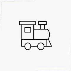 locomotive toy line icon