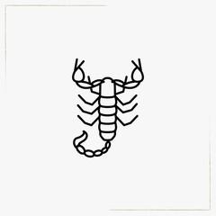 scorpion line icon