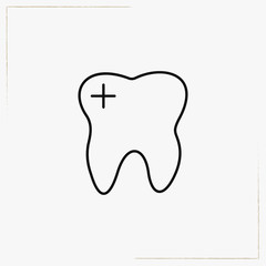teeth root line icon