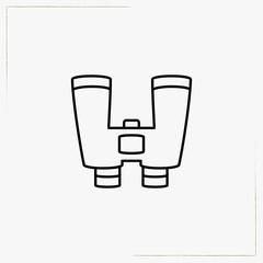 binocular line icon