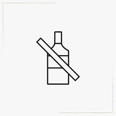no alcohol line icon