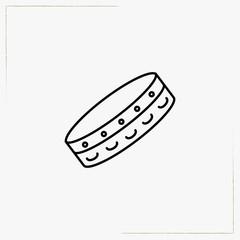 tambourine line icon