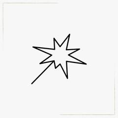 bengal light line icon
