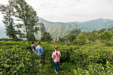 Family in tea country