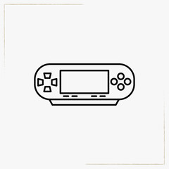 computer game pad line icon